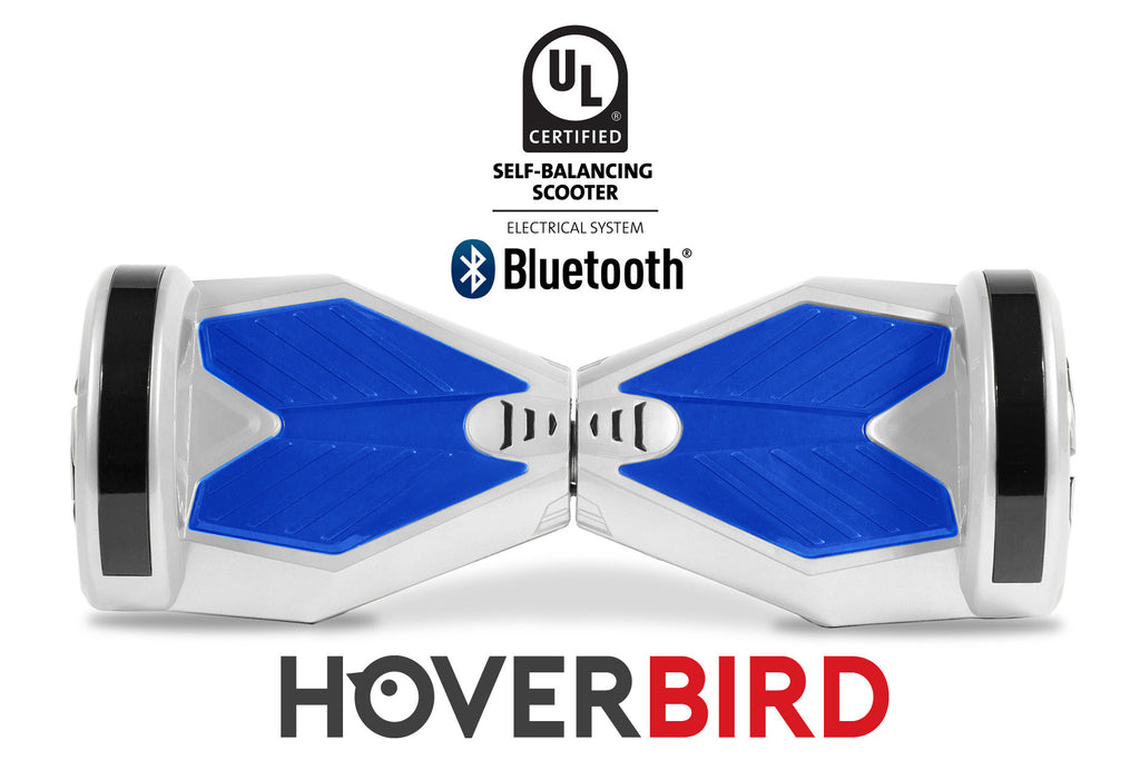 UL2272 I5 Self Balancing White Blue Hoverboard 8'' with Bluetooth - 700W