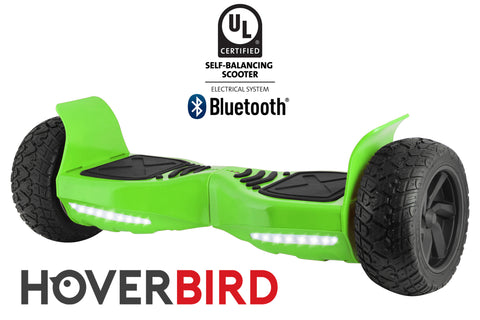 "GREEN HOVERBIRD SUV - Z13 UL2272 Certified 800W - 8.5"", Off-Road All Terrain - BLUETOOTH"