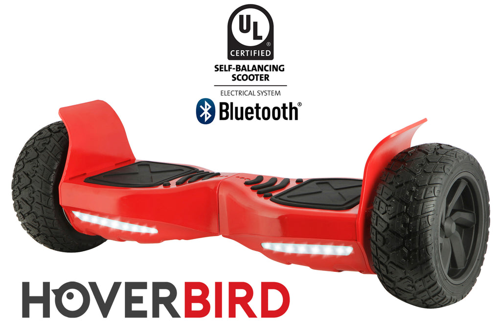 "RED HOVERBIRD SUV - Z13 UL2272 Certified 800W - 8.5"", Off-Road All Terrain - BLUETOOTH"