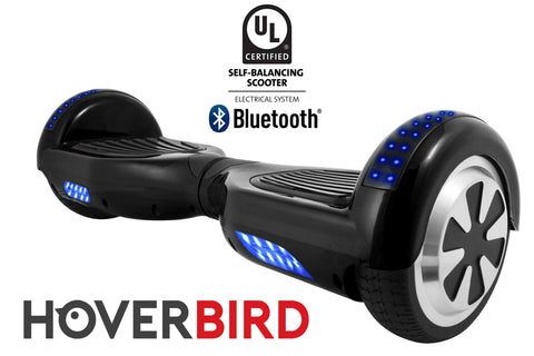 BLACK HOVERBOARD SOLID - Z1 UL2272 CERTIFIED SELF BALANCING SCOOTER - BLUETOOTH
