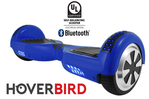 BLUE HOVERBOARD SOLID - Z1 UL2272 CERTIFIED SELF BALANCING SCOOTER - BLUETOOTH