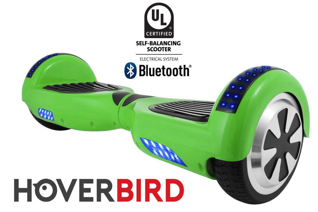 GREEN HOVERBOARD SOLID - Z1 UL2272 CERTIFIED SELF BALANCING SCOOTER - BLUETOOTH