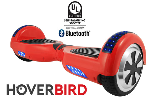 RED HOVERBOARD SOLID - Z1 UL2272 CERTIFIED SELF BALANCING SCOOTER - BLUETOOTH