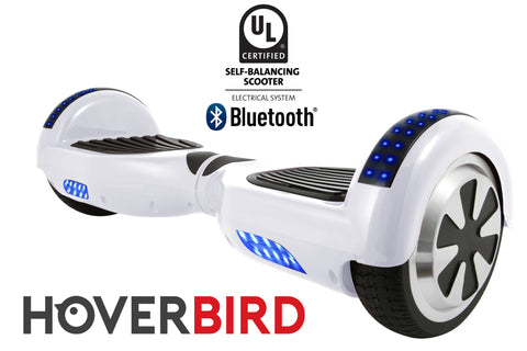 WHITE HOVERBOARD SOLID - Z1 UL2272 CERTIFIED SELF BALANCING SCOOTER - BLUETOOTH