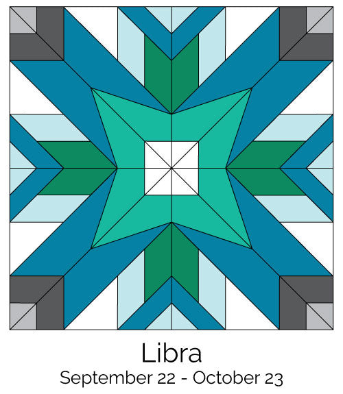 Libra #245 from the Zodiac BOM