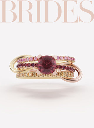 "Spinelli Kilcollin featured in the ""47 Ruby Red Engagement Ring Ideas & Styles"" on Brides.com."