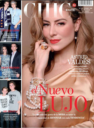 "Spinelli Kilcollin featured in ""Jewelry: Top Trends"" (page 94) in the September 2019 issue of Chic Magazine Monterrey."