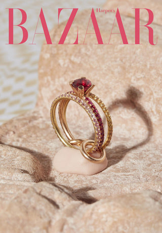 Spinelli Kilcollin was featured in the Harper's Bazaar story for '30+ Ruby Engagement Rings You Won't Stop Dreaming About' story