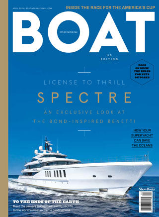Spinelli Kilcollin featured in BOAT April 2019 issue, highlighting the Atlas Bleu ring