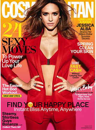 On Jessica Alba: March Cosmopolitan Cover
