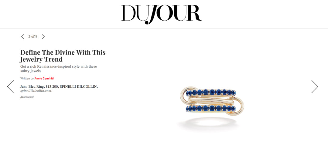 dujour spinelli kilcollin juno bleu ring linked-ring luxury rings