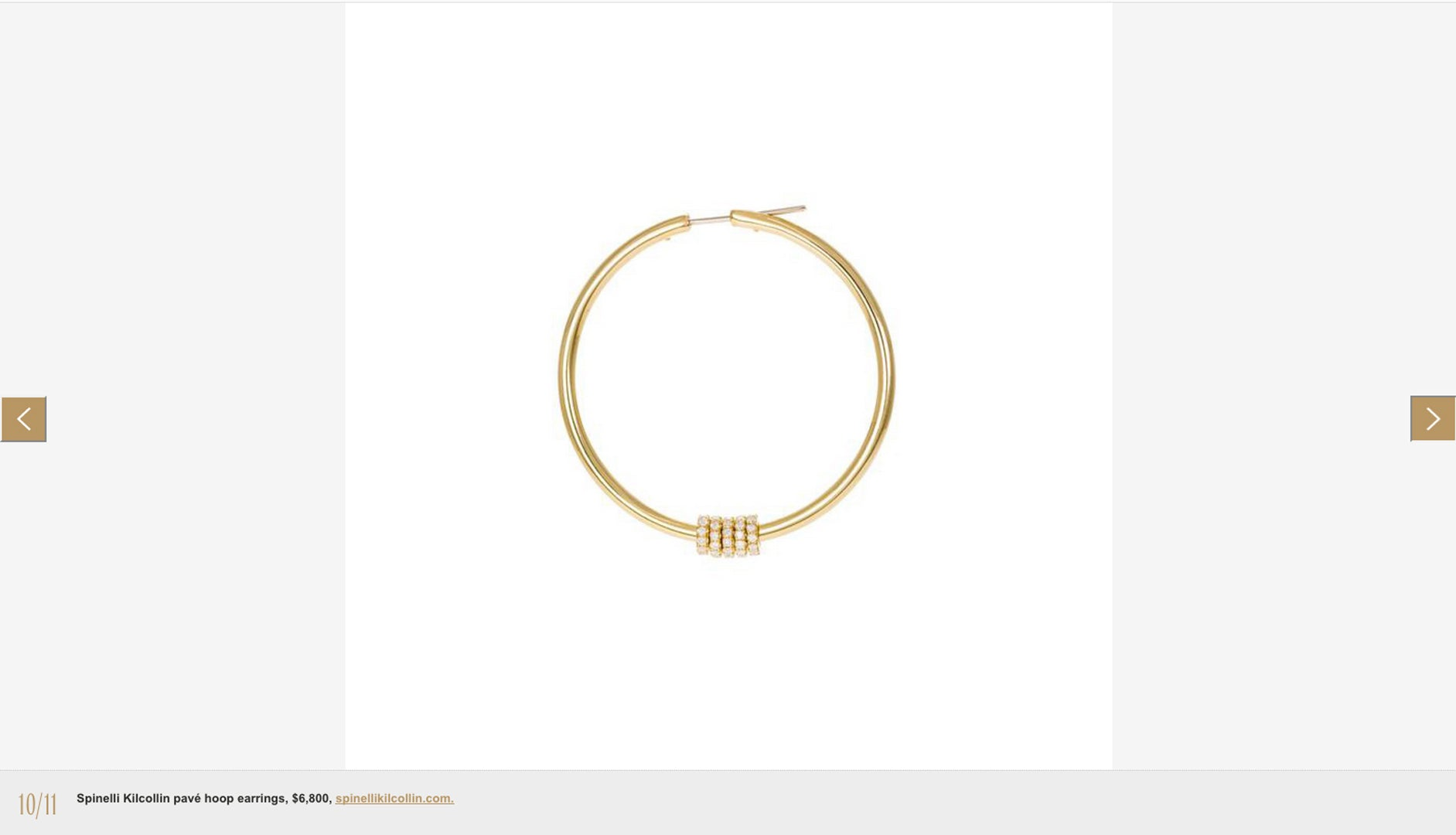 W magazine spinelli kilcollin pegasus pave hoop earrings