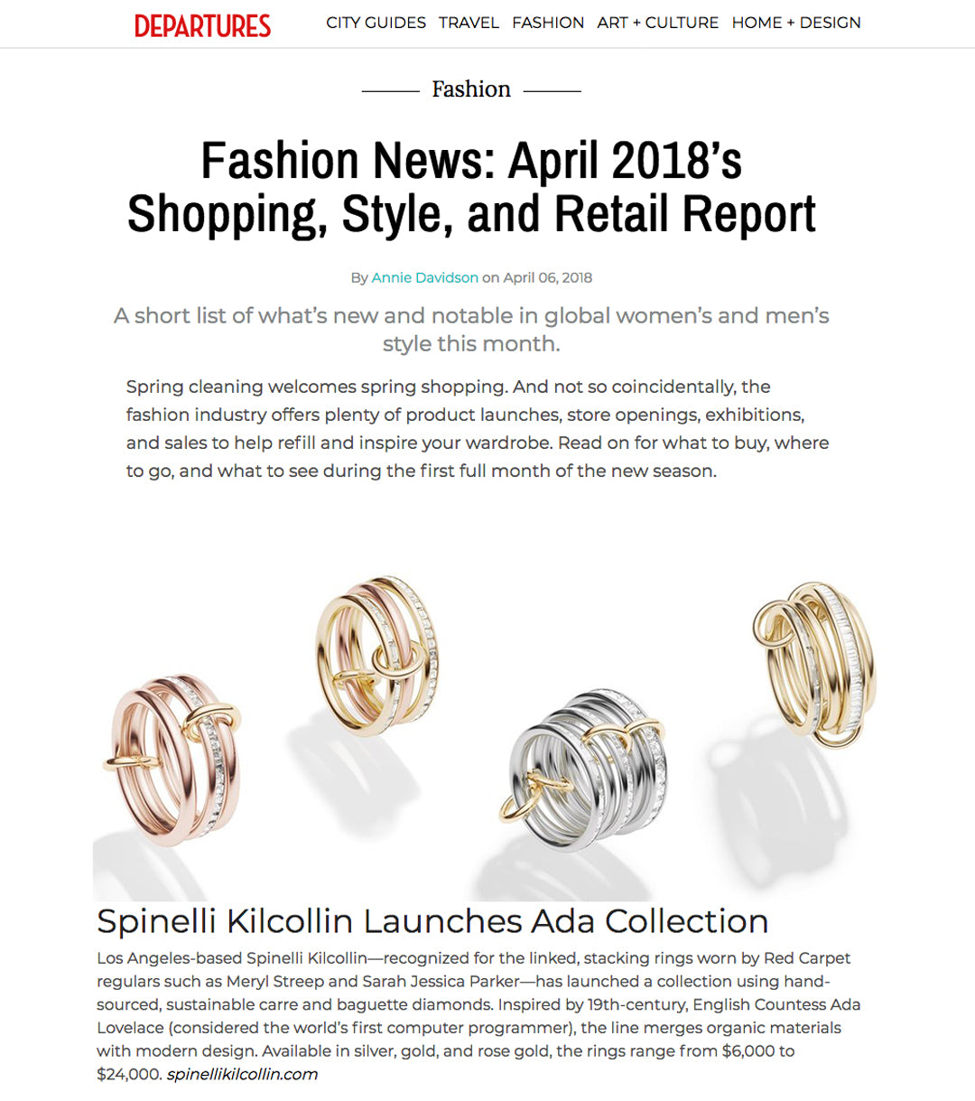 Spinelli kilcollin departures ada collection luxury jewelry