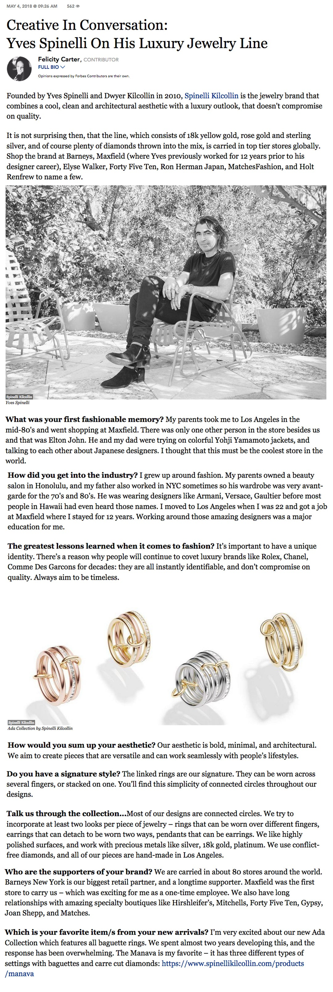 forbes spinelli kilcollin ada collection rene mozi manava lehmus medora augusta linked rings luxury jewelry