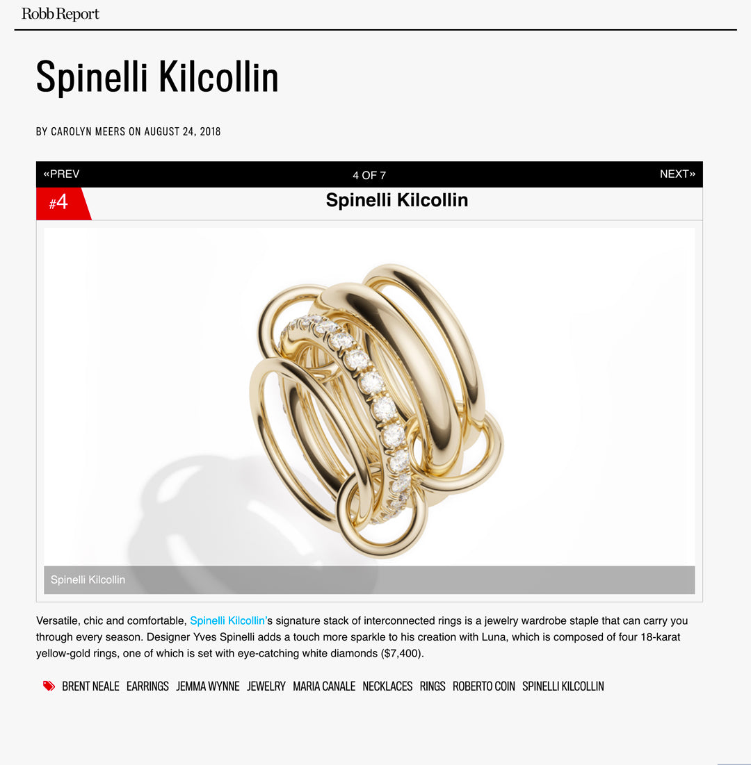 robb report spinelli kilcollin luna ring linked-rings luxury jewelry