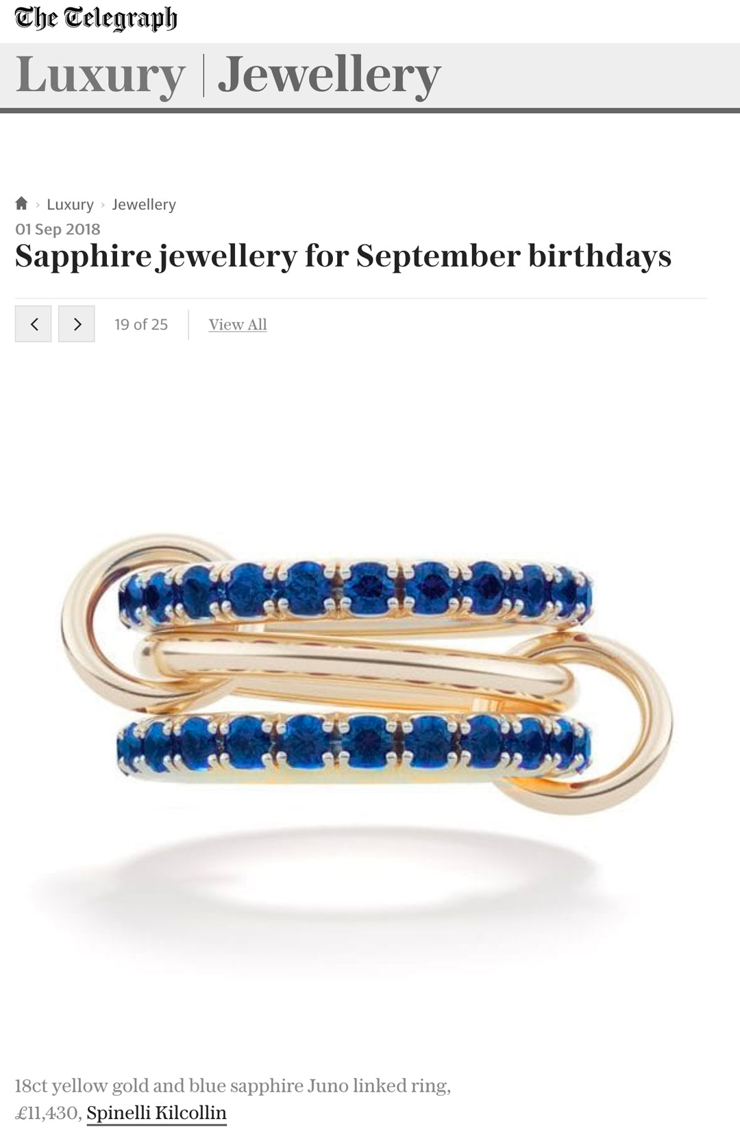 spinelli kilcollin saphirre ring juno bleu telegraph linked-rings luxury jewelry