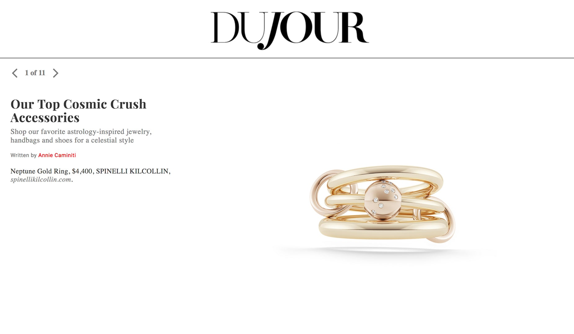 dujour spinelli kilcollin zodiac collection neptune gold ring linked-rings luxury-jewelry