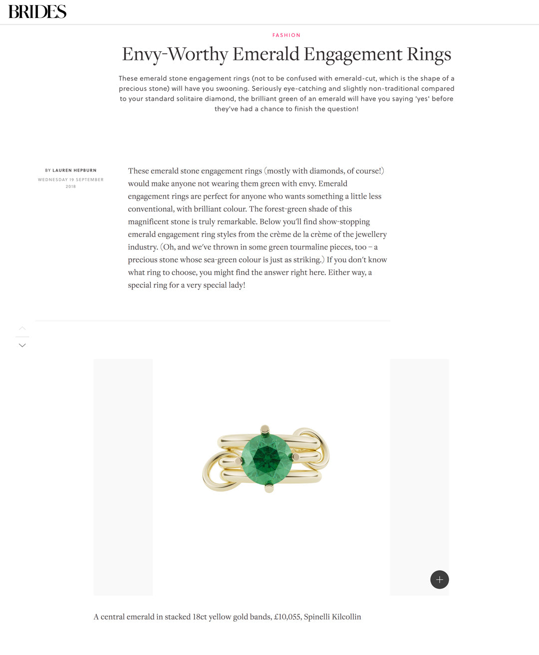 spinelli kilcollin brides emerald atria engagement-ring luxury-jewelry linked-rings
