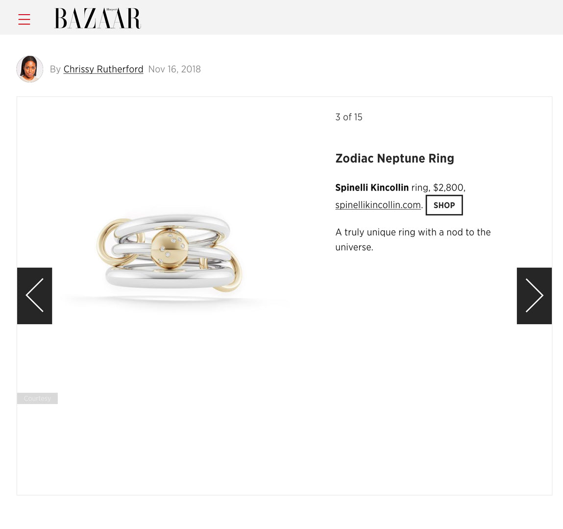 spinelli kilcollin harpers bazaar zodiac collection neptune sg ring linked-rings luxury-jewelry astrology-jewelry