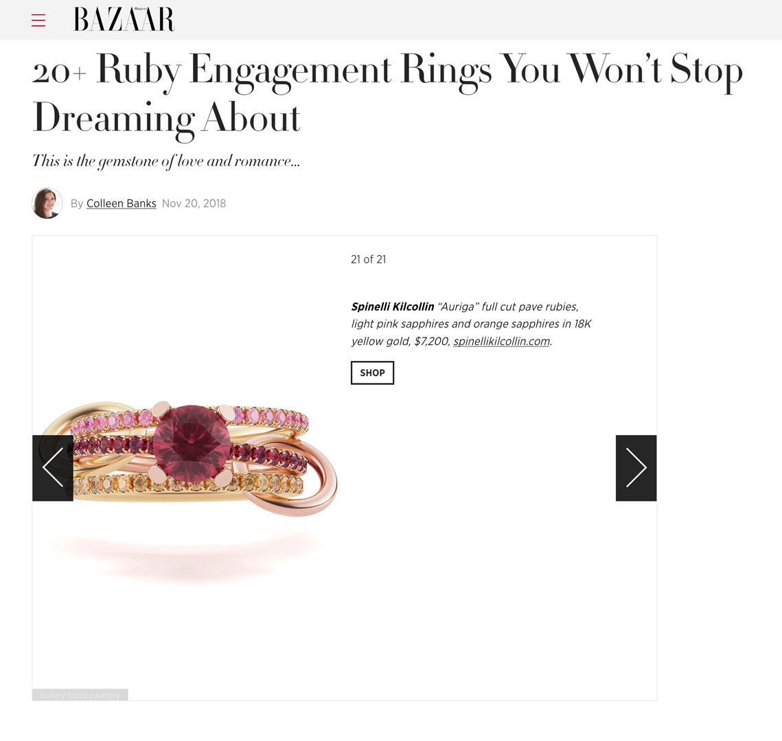 spinelli kilcollin harpers bazaar auriga ring ruby engagement luxury-jewelry linked-rings