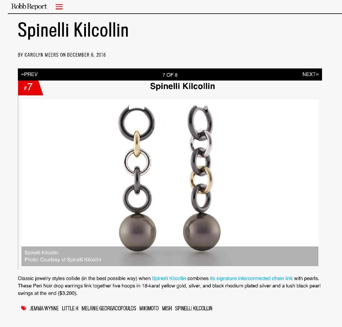 spinelli kilcollin robb report peri noir earring linked-rings luxury-jewelry