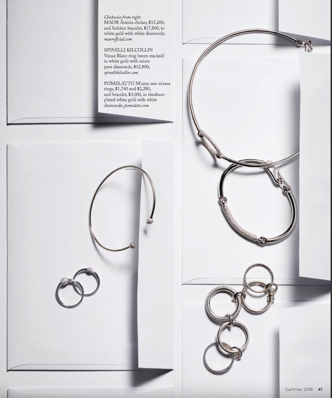 luxury magazine spinelli kilcollin venus blanc ring linked-rings jewelry