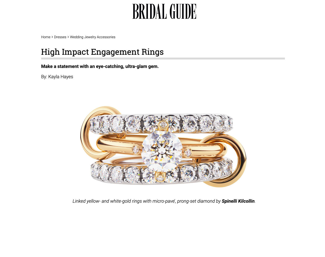 bridal guide spinelli kilcollin luxury-jewelry linked-rings pave-diamond