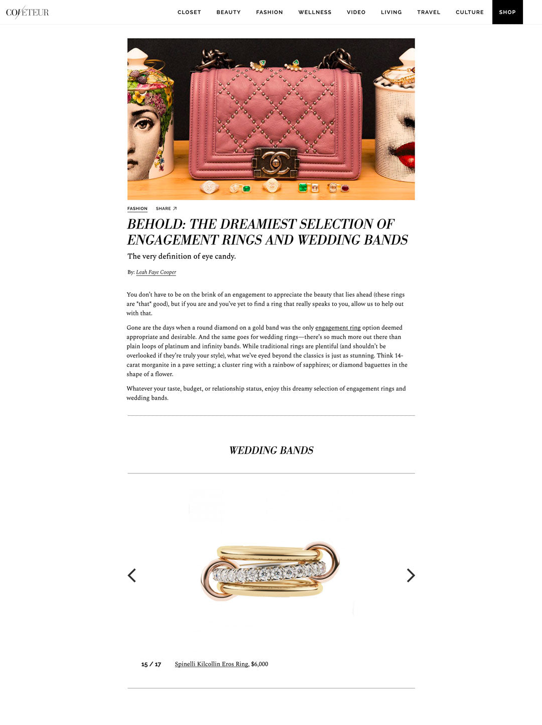 coveteur spinelli kilcollin eros-ring linked-ring luxury-jewelry diamond ring los angeles