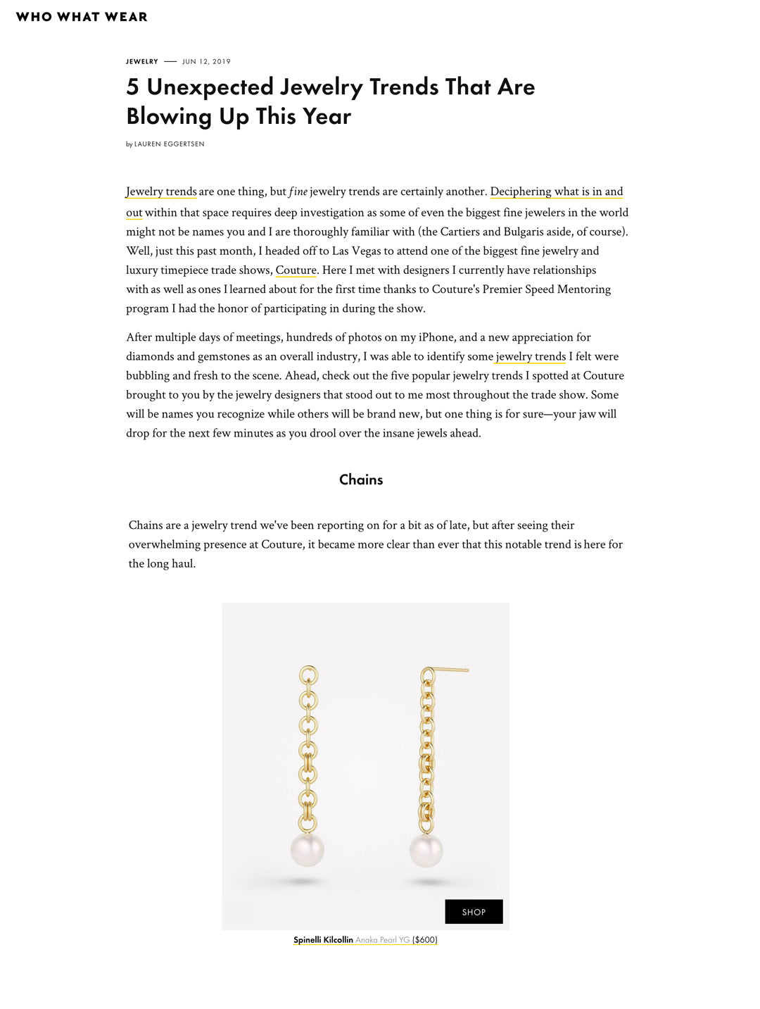 spinelli kilcollin who what wear anaka pearl earrings chain-earrings pearl-earrings luxury-jewelry linked-jewelery
