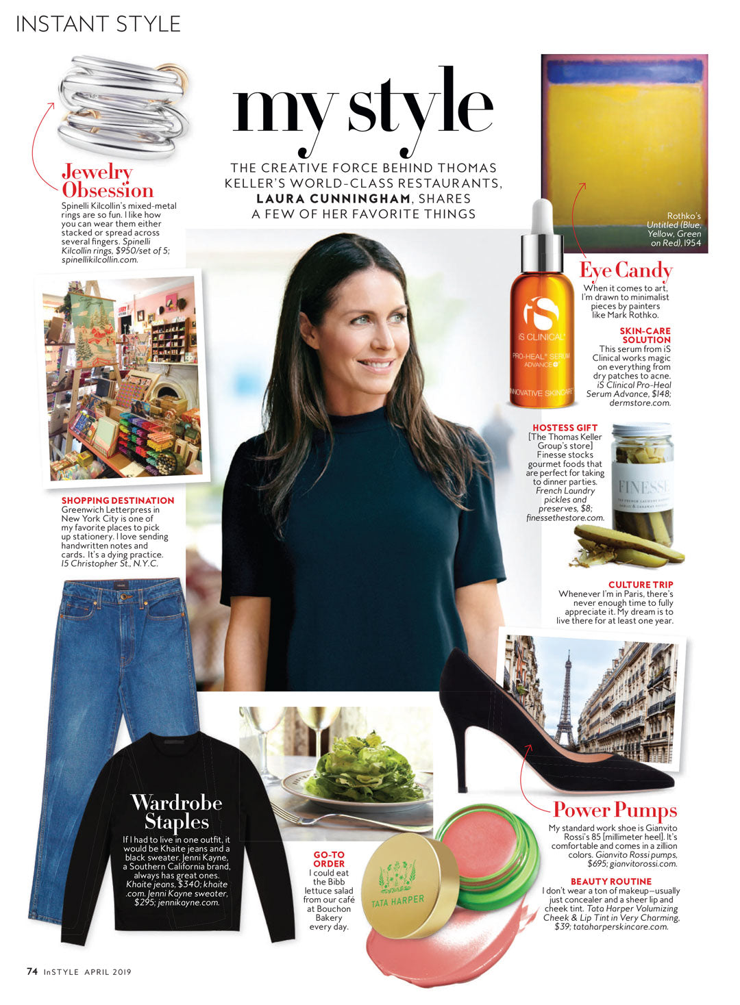 Spinelli Kilcollin featured in InStyle April 2019 issue
