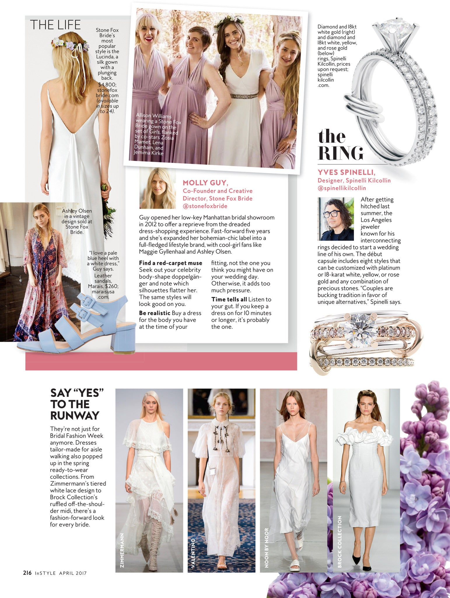 InStyle features Spinelli Kilcollin Bridal ring