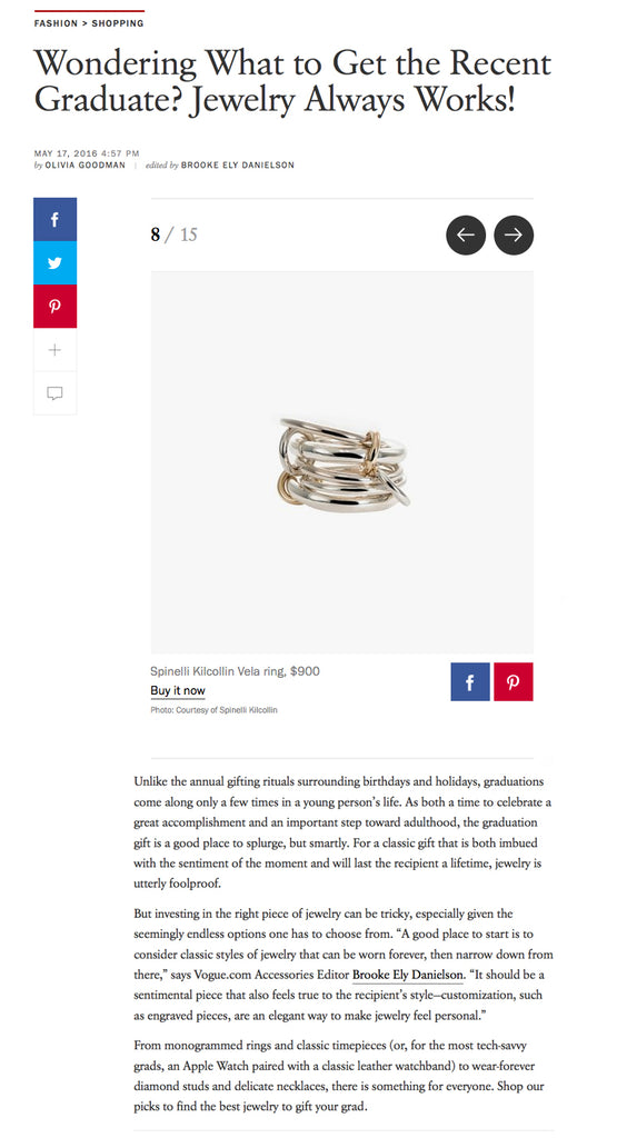 Vogue.com Spinelli Kilcollin Vela Linked Ring