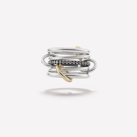 Spinelli Kilcollin Libra Noir Linked Ring
