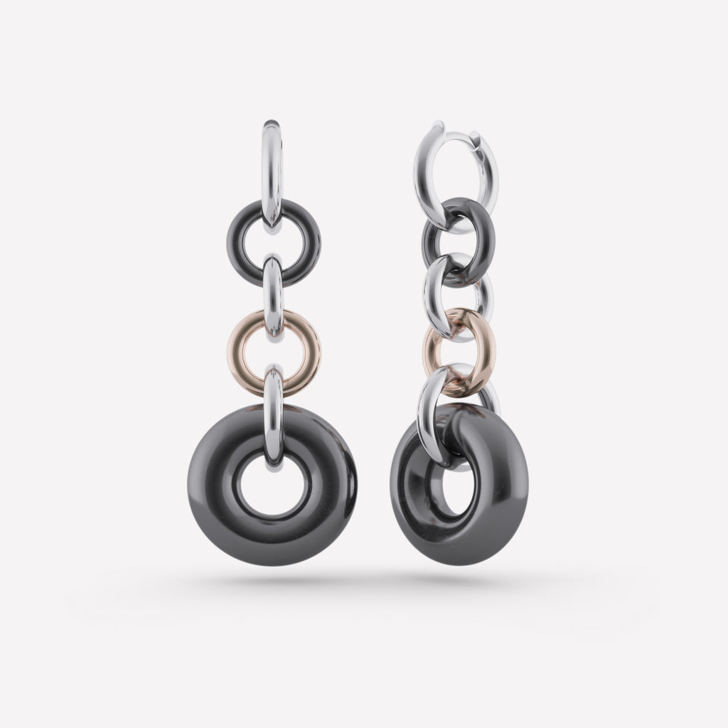 Alexa Gris Chain Earrings