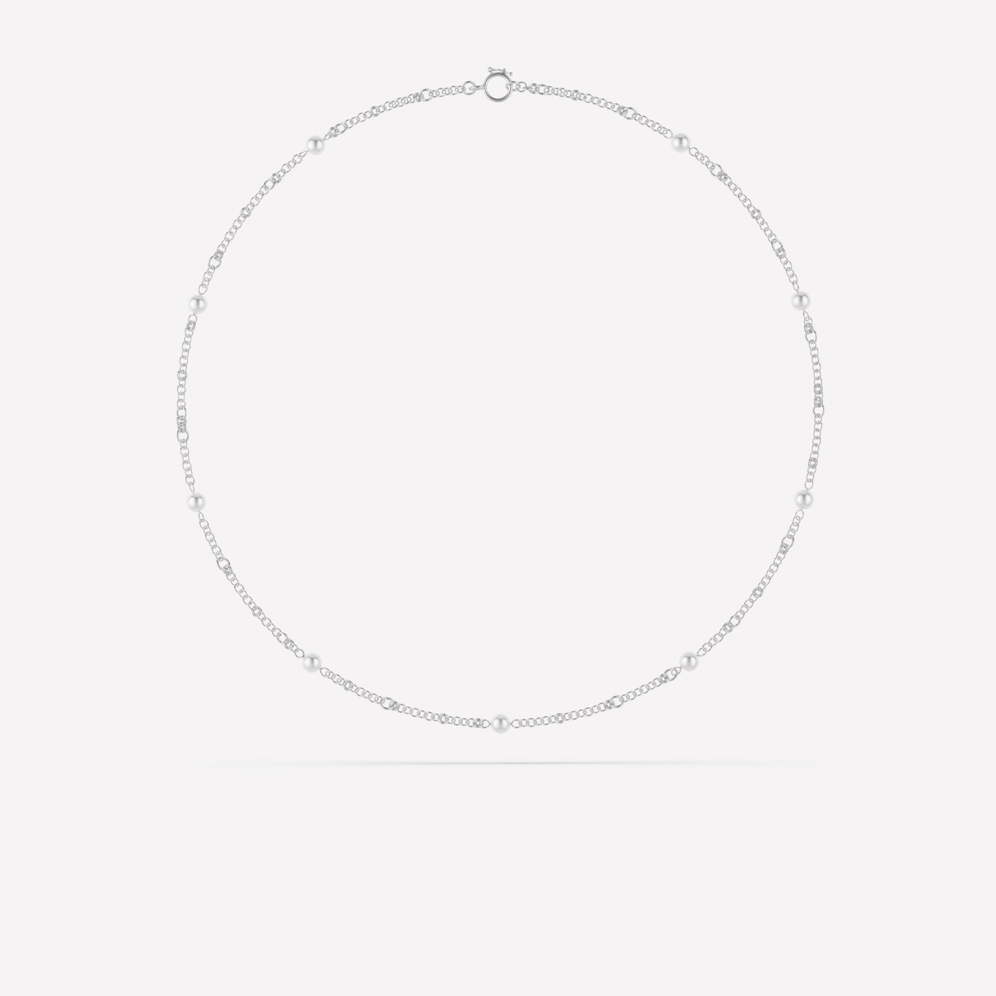 Akoya Gravity Chain Necklace - Akoya Silver Gravity Chain Necklace