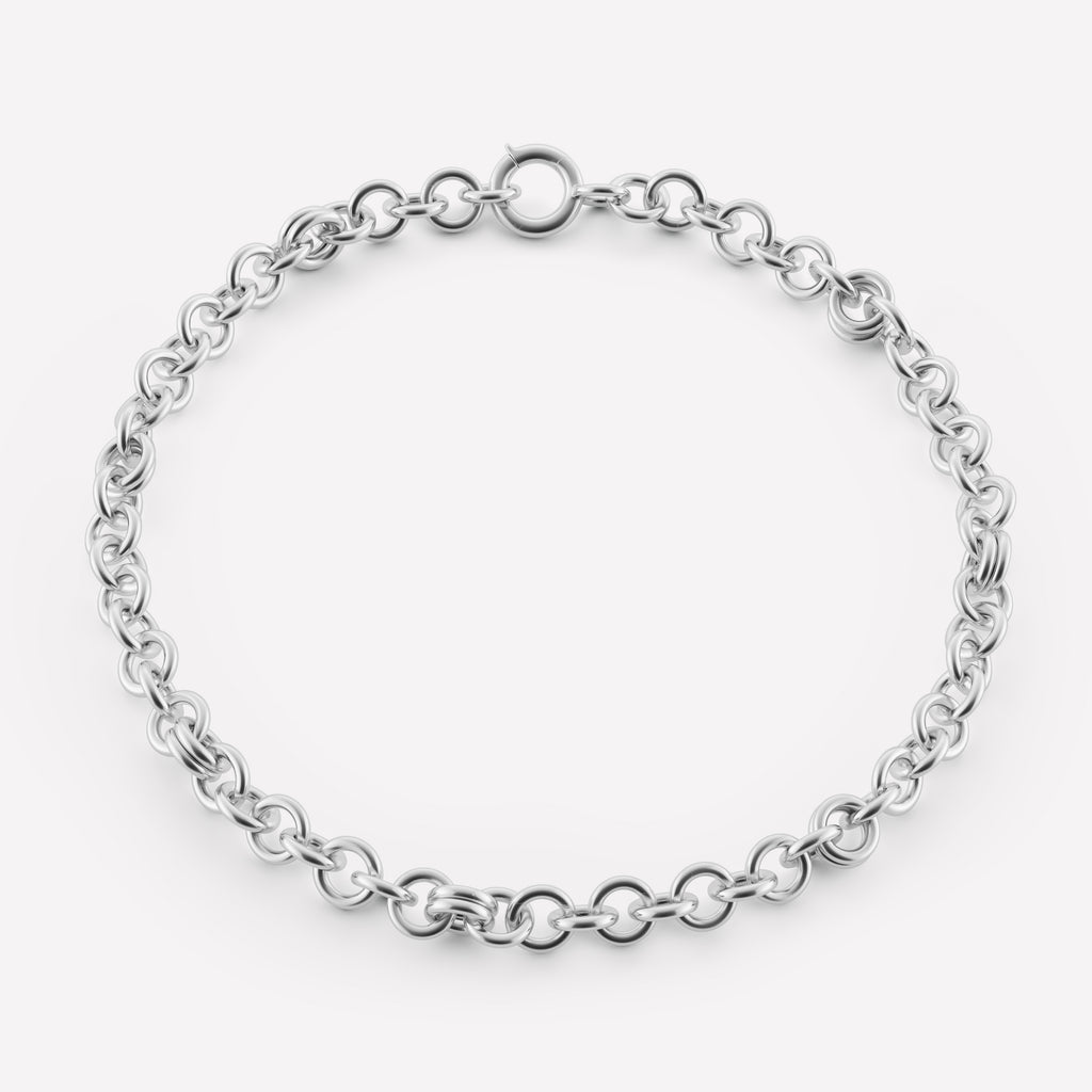 Corona Silver Necklace