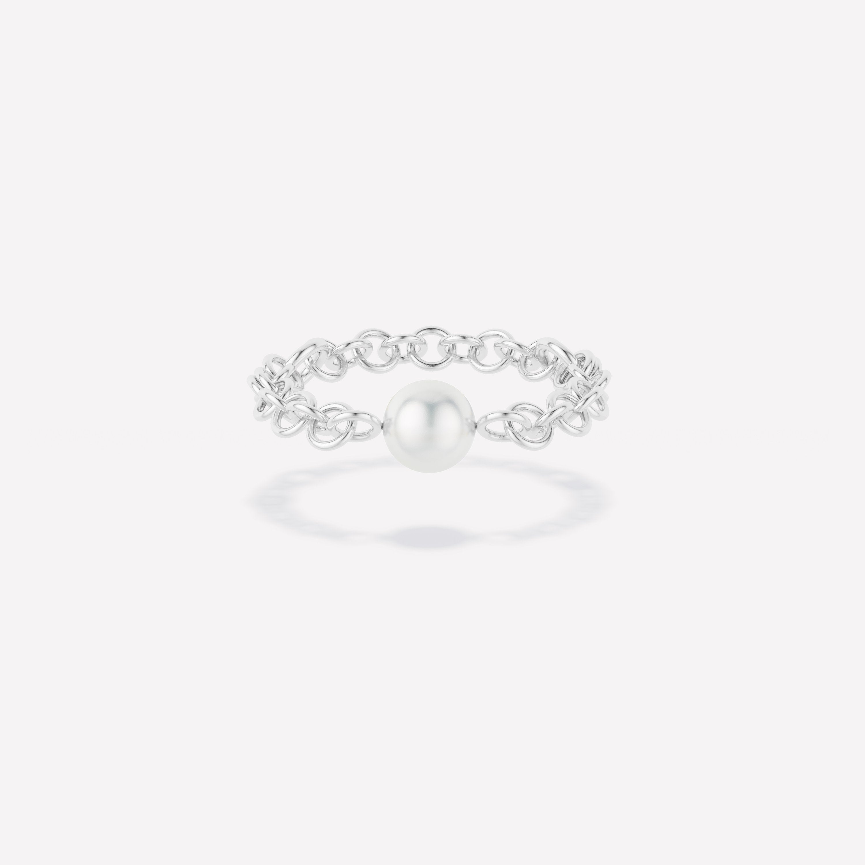 Akoya Gravity Chain Ring - Akoya Gravity Chain Ring Silver / Not sure of my size
