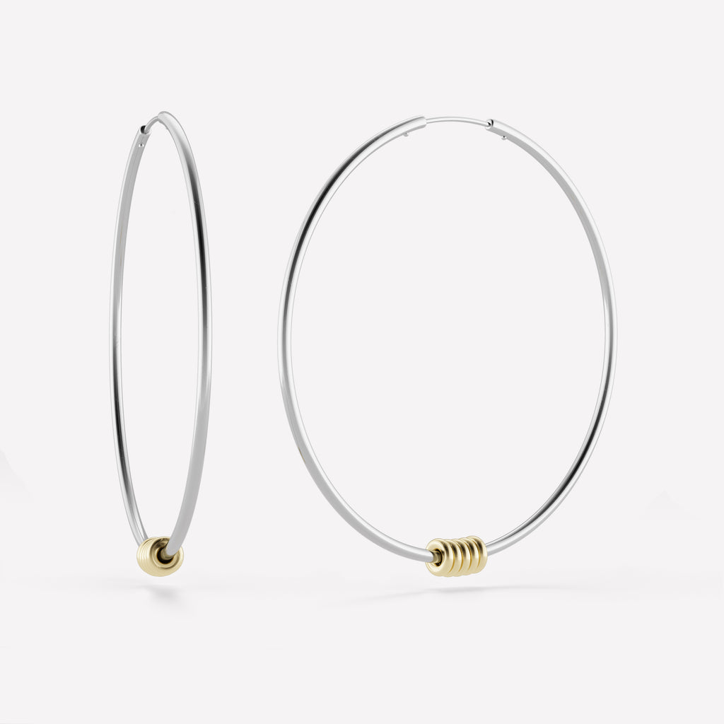 Leela WG V Hoop Earrings
