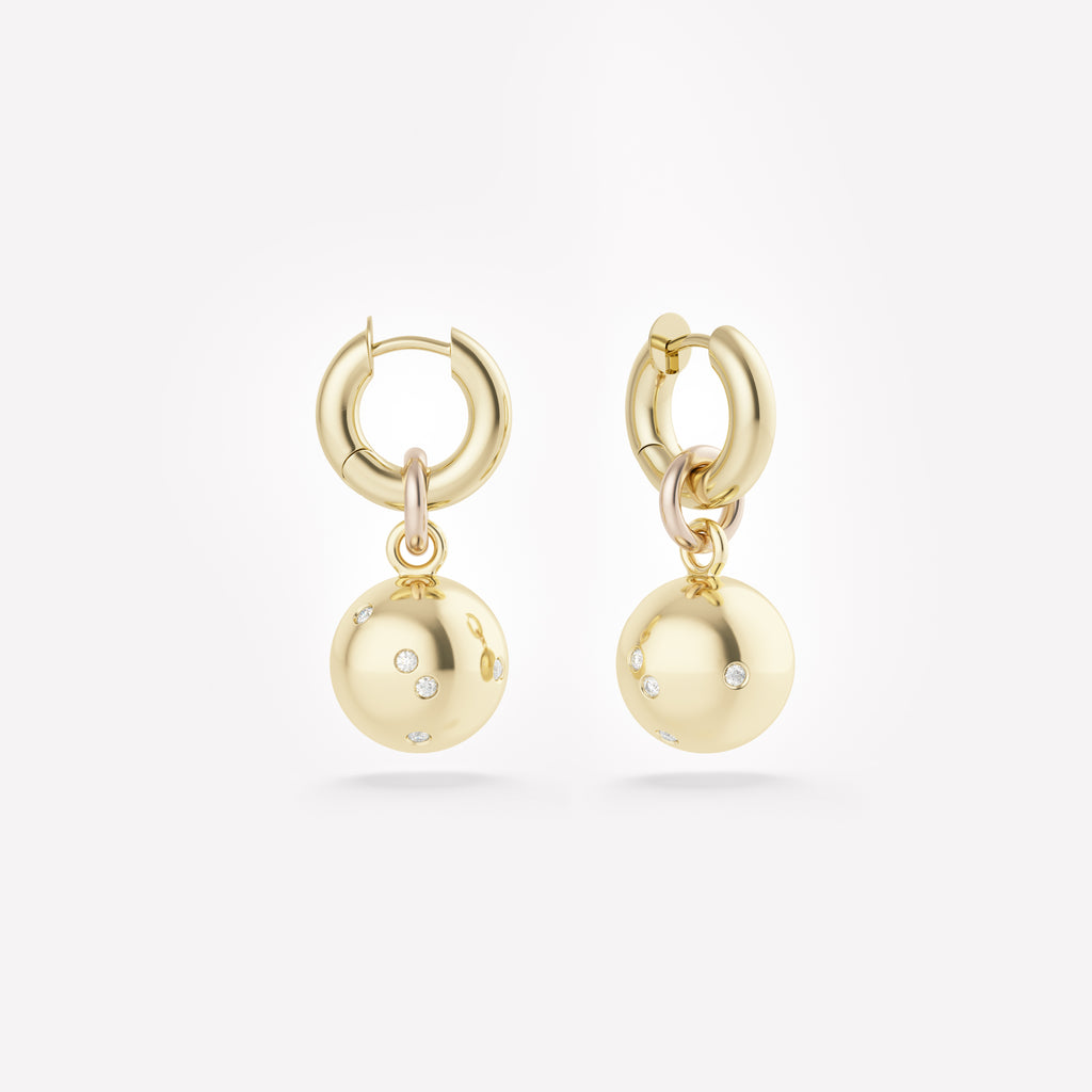 Zodiac | Pluto Gold Earrings