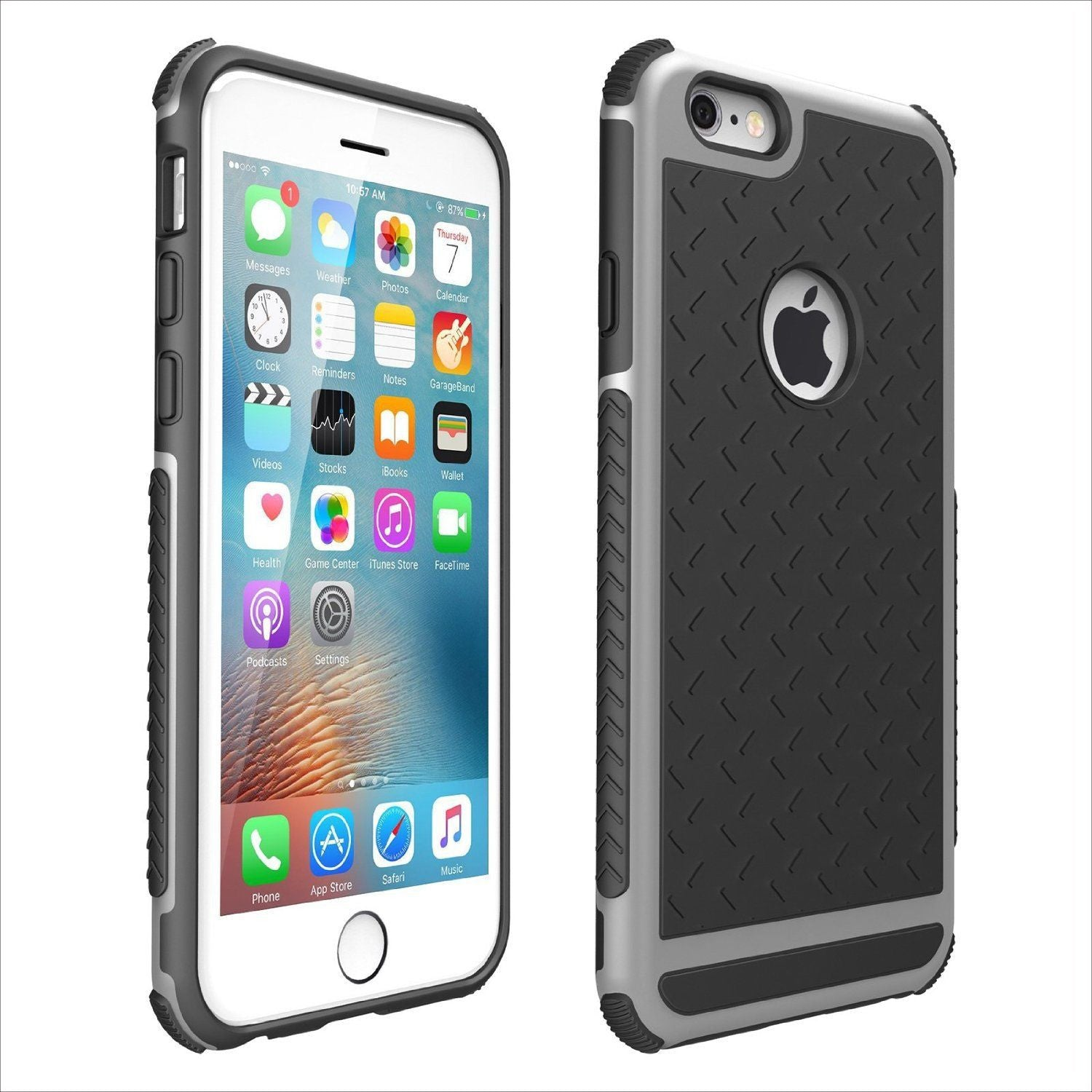 hot sale online 907f6 a90de Shockproof Rubber Hybrid Fashion Hard Case Thin Cover For Apple iPhone 6 6S  Plus