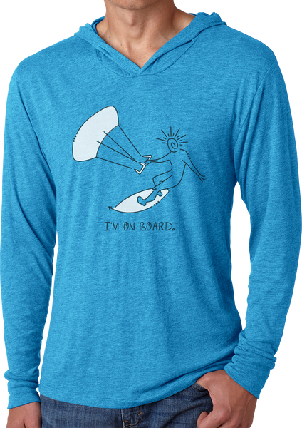 I'm on Board™ Kiteboard - Men's Long Sleeve Hoodie
