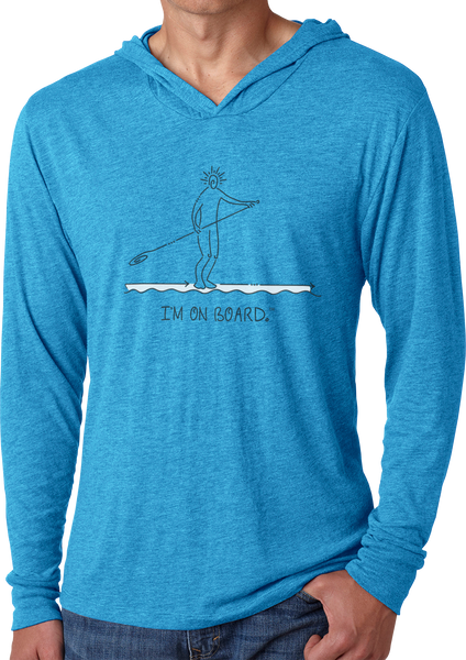 I'm on Board™ Paddle Board - Men's Long Sleeve Hoodie