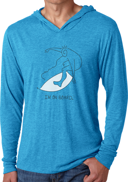 I'm on Board™ Skimboard - Men's Long Sleeve Hoodie