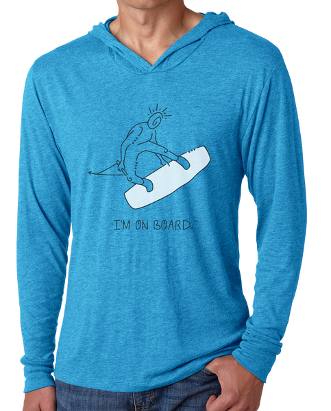 I'm on Board™ Wakeboard - Men's Long Sleeve Hoodie