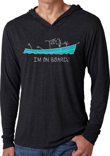 I'm on Board™ Lobster Boat - Men's Long Sleeve Hoodie