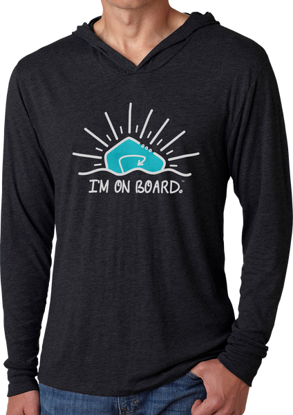 I'm on Board™ Logo - Men's Long Sleeve Hoodie