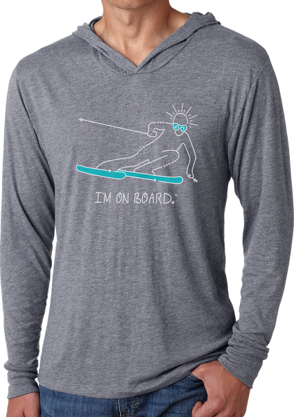 I'm on Board™ Skier - Men's Long Sleeve Hoodie