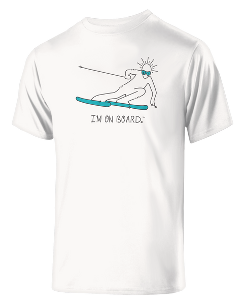 I'm on Board™ Skier - Men's Athletic Tee