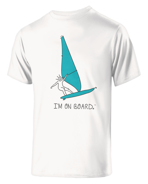 I'm on Board™ Wind Surfing - Men's Athletic Tee