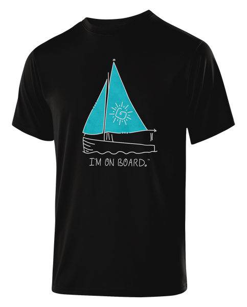 I'm on Board™ Sailing - Men's Athletic Tee